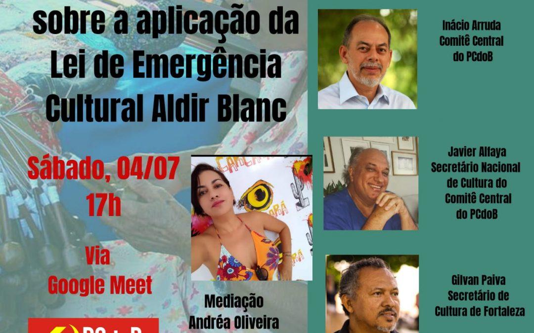 PCdoB Ceará realizará debate sobre a Lei de Emergência Cultural Aldir Blanc